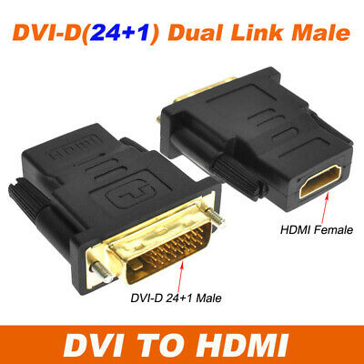 AU4.95 • Buy 24+1 DVI-D Male To HDMI Female M/F Adapter Coupler Converter Adaptor For HDTV