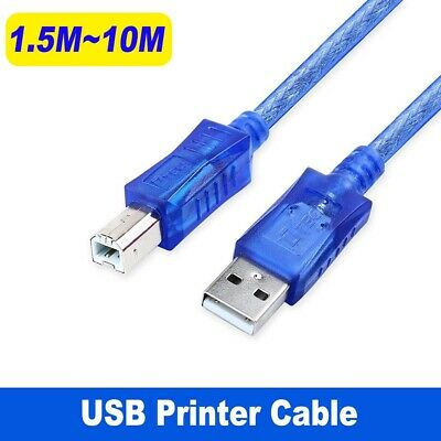 AU5.06 • Buy Universal Printer Cable USB 2.0 Type A Male To B For Brother Epson Canon Scanner