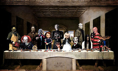 £7.95 • Buy Framed Print - The Last Supper Of Horror (Alfred Hitchcock Gothic Picture Art)