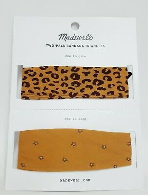 $17.57 • Buy Madewell Friendship Two-Pack Triangle Bandanas Leopard Multi-Color New With Tag