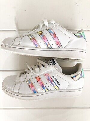 AU25 • Buy Adidas Superstar Holographic Iridescent Limited Edition Leaf Runners Sz US 4