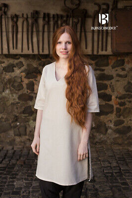 Medieval Padded - Cotton White Color Tunic Costume Reenactment SCA • 47.44£