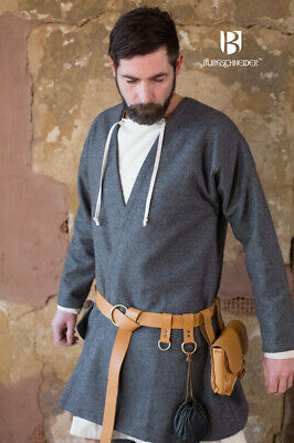 Medieval Padded Tunic -Blue Color Renaissance Costume • 48.84£