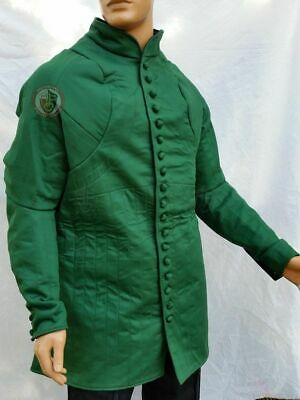 Medieval Viking Green Color Clothing Armor Reenactment Gambeson • 62.30£