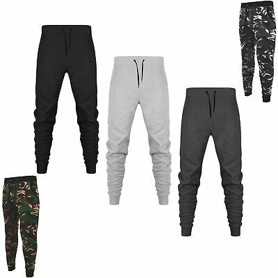 £7.79 • Buy Mens Slim Fit Trousers Tracksuit Bottom Sweat Pants Brush Fleece Jogging Joggers