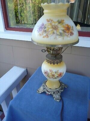 $ CDN50.68 • Buy Vintage HEDCO GWTW  Parlor Lamp Yellow Roses  3004 Works Great