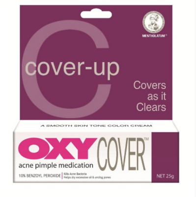 25g OXY COVER Kill And Conceal 10% Benzoyl Peroxide Acne Pimple UK SELLER • 10.99£