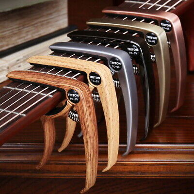 $ CDN9.31 • Buy Guitar Capo For Acoustic And Electric Guitars Quick Change Grain Clamp Dark Wood