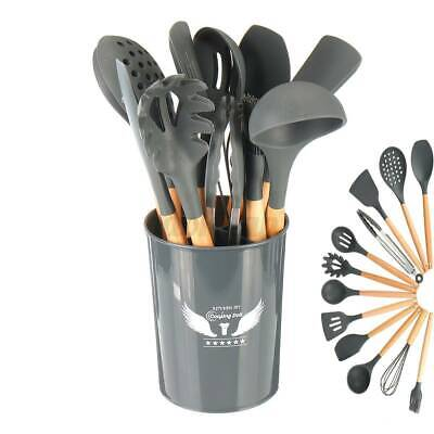 AU29.99 • Buy 12pcs Silicone Kitchen Cooking Utensil Set Non-stick Cookware Spatula Spoon Tool