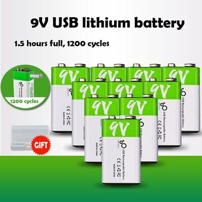 AU28.53 • Buy 6F22 9V 650mAh Micro USB Rechargeable Li-ion Battery For RC Helicopter