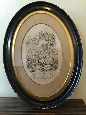 George Cruikshank Engraving Oval Framed Glazed The Triumph Of Cupid A Reverie • 38.50£