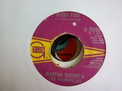 Martha Reeves And The Vandellas Bless You • 4.50£