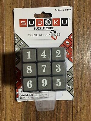 SUDOKU Math Puzzle Cube 3x3 Rubiks Rubics Rubix Number Game Toy Brain Teaser • 10.02£