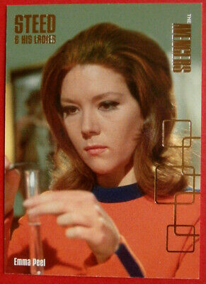 £3.99 • Buy THE AVENGERS - Gold Foil Chase Card AV2-F3 - EMMA PEEL, Diana Rigg, Strictly Ink