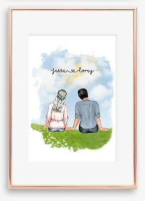AU19.50 • Buy A4 Love Couple Boyfriend Wall Print/Sign Unique Gift Personalised Valentines Day