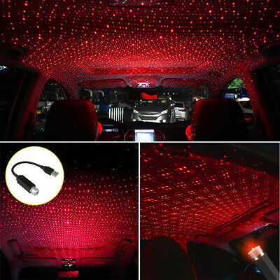 $9.43 • Buy USB Car Roof Atmosphere Lamp Ambient Star Starry Light LED Projector Accessory