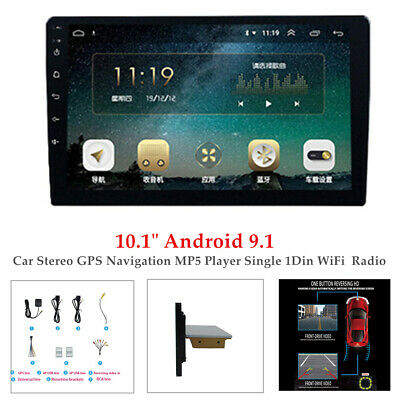 $151.29 • Buy 10.1  Android 9.1 Car Stereo BT GPS Navi MP5 Player Single 1Din WiFi FM Radio