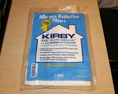 KIRBY 2-Pack Generation Micron Magic Allergen Reduction HEPA Filter Vacuum Bags • 9.44£