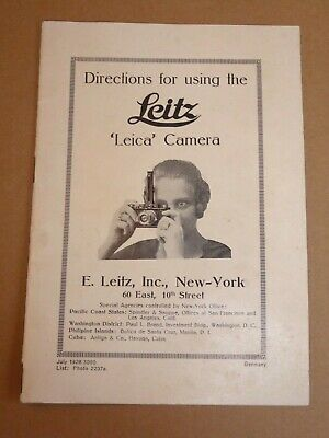 Directions For Using The Leitz Leica Camera + Directions Part II/III • 39.99£