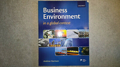 Business Environment In A Global Context, Andrew Harrison, Very Good Condtion • 5.99£