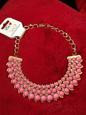 AU18 • Buy Pink & DIAMANTE CHOKER NECKLACE UNWANTED CHRISTMAS PRESENT GIFT 🎁
