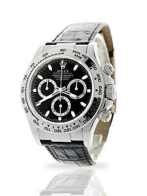 $ CDN30814.78 • Buy Rolex Daytona 116519 Black Dial White Gold Watch Only 12-month Warranty 2008