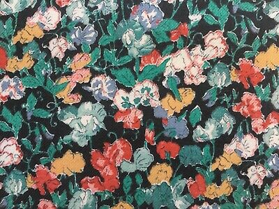 Beautiful Unused Vintage Floral Viyella Dress Fabric - 2.4M Long, Sweet Peas • 32.99£