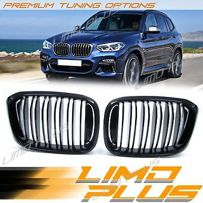 AU99.99 • Buy Glossy Black Front Kidney Grille Grill Dual Slat For BMW X3 G01 X4 G02 18-21