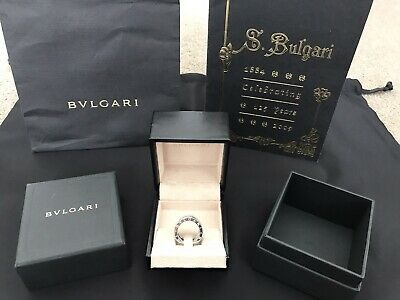 AU1885 • Buy Bvlgari Original B Zero 1 Ring 18k White Gold Size 48 Four Band Bulgari Cartier