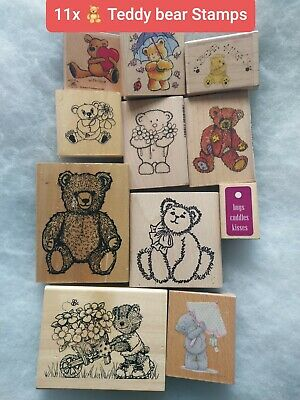 🧸 Teddy Bears Crafting Stamps Bundle, 11 Stamps (storage Clear Out)  • 10£