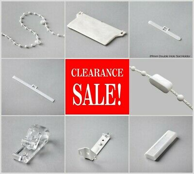 £2.99 • Buy Vertical Blind Spare Parts 89mm&127mm Weights,Chain,Hangers,Cord,Brackets & More