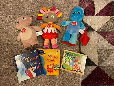 In The Night Garden Iggle Piggle And Others Toys Bundle, memory Game And Books • 12£