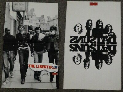 THE LIBERTINES / THE DATSUNS - DOUBLE SIDED GLOSSY NME POSTER 33cm X 54cm  • 2.99£