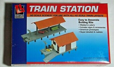 $ CDN25.25 • Buy Ho Scale Building Kit Train Station & Platform Life-like 433-1347 New Sealed