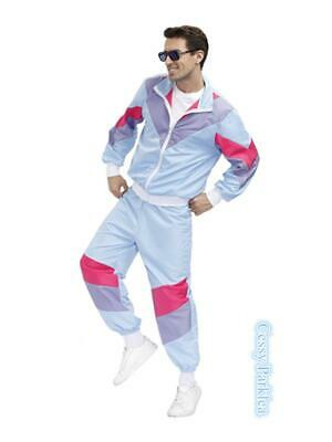 AU39.95 • Buy N1 Mens 80s 90s Sweat Tracksuit Costume Shell Suit Retro Outfit