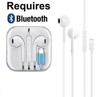 AU8.99 • Buy Wired Bluetooth Earbud Earphone Headphone Headset For Apple Iphone 7 8 X 11 Pro