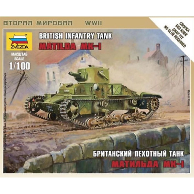 AU8.99 • Buy Zvezda 6191 1/100 British Matilda Mk 1 Tank Plastic Model Kit Brand New