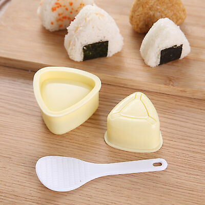 FT- Fashion  Portable Triangle Rice Ball Mold With Spoon Press Sushi MakerTools • 5.35£