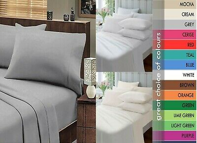 £6.99 • Buy 100%Egyptian Cotton Extra Soft Fitted Sheet Bed Sheets All Sizes Extra Deep 27cm