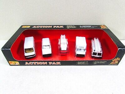 $ CDN30.22 • Buy Vintage Maisto Action Pack Fire Department White Rescue Vehicles NIP
