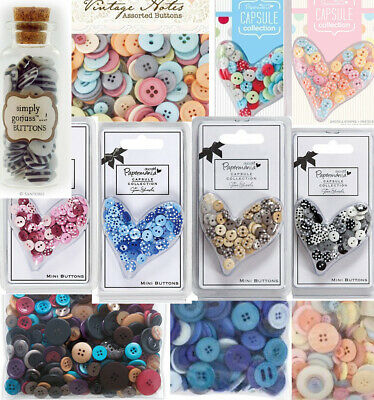 £3 • Buy Assorted Docraft Button Packs Card Making Scrapbooking