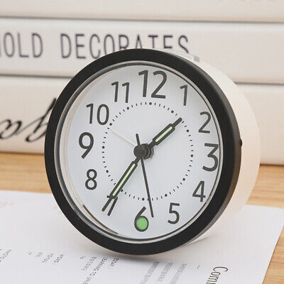 AU18.99 • Buy Minimalist Analogue Bedside Alarm Clock -Modern Desk Clock With Night Light Home