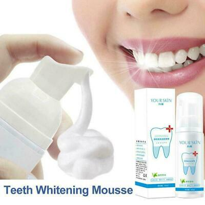 Teeth-Cleaning Whitening Mousse Toothpaste Removes Stains Plaque J5G3 • 2.99£