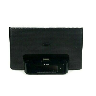 AU30.63 • Buy Sony Black IPhone Clock Radio Speaker Dock Dream Machine ICF-CS15iP Aux