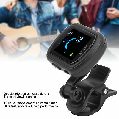 $ CDN7.83 • Buy AROMA Rechargeable Guitar Clip‑on Tuner For Halftone Guitar Bass Ukulele Violin