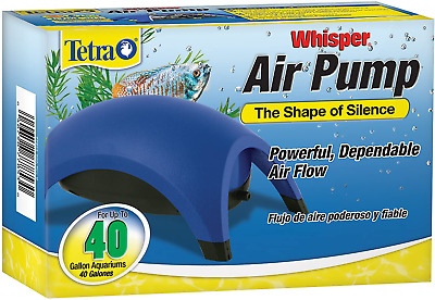 AU21.87 • Buy Whisper Easy To Use Air Pump For Aquariums, Fish Tanks Up To 100 Gal (Non-UL)