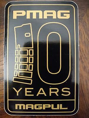 $4 • Buy MAGPUL 10 Years Gold Foil PMAG Sticker Decal Mag Magazine Anniversary 3.5x2.25