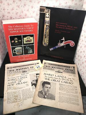 3pc HMV Record Review & Christie's Music Magazine & Nipper Souvenir Guide Book • 14.50£