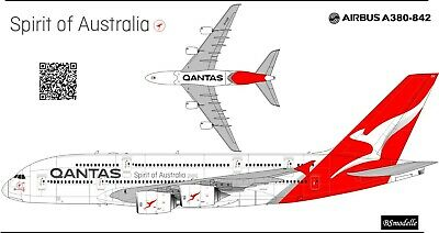 Airbus A380 Qantas 1144 Decal For Revell • 8.58£