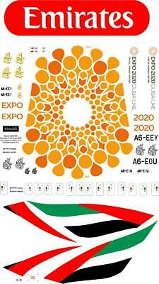 Airbus A380 Expo Emirates   Decal 1144 For Revell • 8.58£